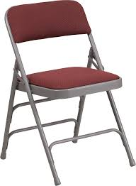 metal folding chairs with padded seats. Brilliant Metal HERCULES Series Curved Triple Braced U0026 Double Hinged Burgundy Patterned  Fabric Metal Folding Chair AW In Chairs With Padded Seats R