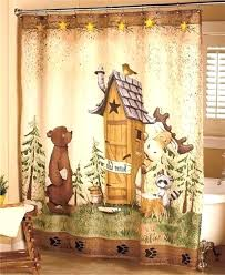 lake cottage shower curtain cabin decor curtains hunting lodge bathroom