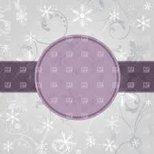 Purple Christmas Card Violet Christmas Card With Round Frame And Snowflakes Stock Vector Image