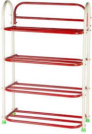metal book shelves. Contemporary Metal Patelraj Metal Book Shelf And Shoe Stand Red 4 Shelves To Shelves