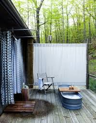 bathroom inspiring outdoor shower design in jungle themed outdoor themed shower curtains