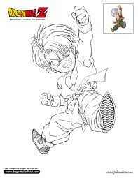 Coloriages Coloriage Trunks Enfant Fr Hellokids Com
