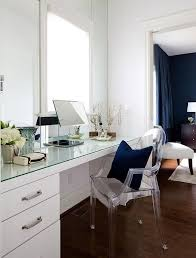 glass top dressing table with ghost chair transitional closet rh decorpad com diy vanity desk vanity