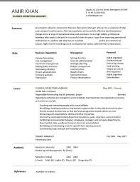 Business Operations Manager Resume 4 ...
