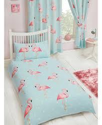 fifi flamingo single duvet cover and pillowcase set