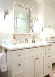 framed bathroom vanity mirrors. White Framed Bathroom Mirror With Shelf Mirrors Vanity R