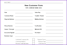 account application form template. Account New Customer Form Template Word Client Feedback ravecoffeeco