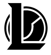 League of <b>Legends</b> Small Logo Vinyl <b>Sticker Decal</b>   Etsy in 2021 ...