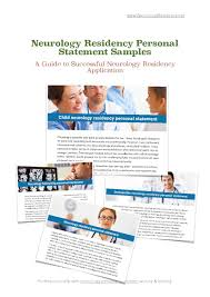 Neurology Residency Personal Statement Samples By Nikki Rajak - Issuu