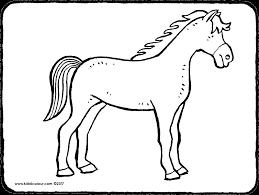 Kleurplaat Liggendpaard