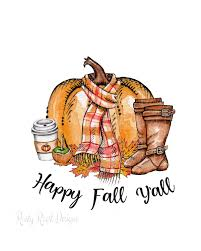 Fall Sublimation Designs Happy Fall Yall Png Fall Sublimation Designs Downloads Fall