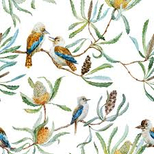 Bird Pattern Enchanting SelfAdhesive 48W X 48H Columns48 Custom Wallpaper