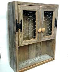 rustic oak bathroom wall cabinet brown mounted glass doors wooden cabinets reclaimed wood shelf chi