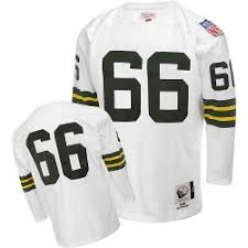 Nitschke Jersey Ray White Green Bay Nfl Throwback Mitchell And Ness Packers Authentic 66