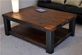 dark distressed wood coffee table