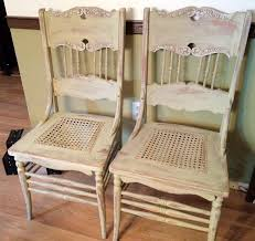 antique pressed back oak chairs