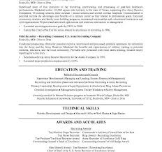 Collection Of Solutions Resume Templates For Military To Civilian