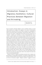 introduction essays in migratory aesthetics cultural practices  preview this chapter