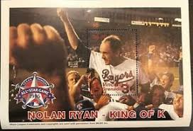 Saint Vincent & The Grenadines- 1995 Nolan Ryan Stamp- sheetlet of 1 #2198  | eBay