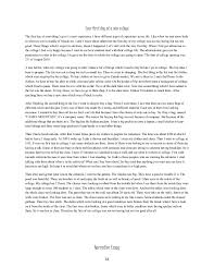 first day at college essay essay my first day of high school essay narrative my regrets by don argwl essay plagiarism