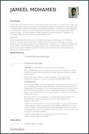 Banquet Captain Resume Sample Best of Beverage Manager Job Description Banquet Captain Resume Food And