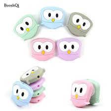 20pcs owl silicone beads baby animal teether beads for diy pacifier chain clip bpa free baby