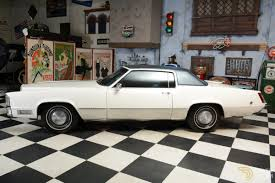 cadillac eldorado coupe 1969 white car