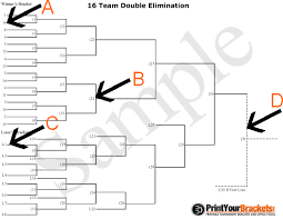 10 Team Single Elimination Bracket Printable Brackets For Double Elimination Download Them Or Print