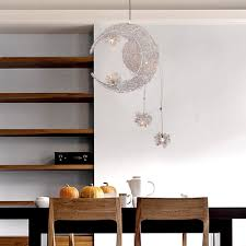Living Room Pendant Lighting Aliexpresscom Buy Aluminum Wire Moon Star Kids Bedroom