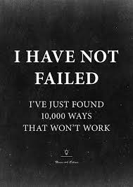 Quotes About Reaching Goals Custom Thomas Edison Motivational Quote Poster I Have Not Failed I've