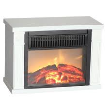 portable electric fireplace space heater ceramic small room tabletop flame logs