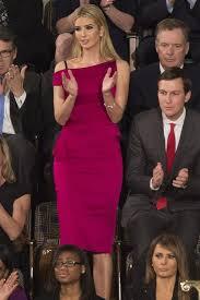 Ivanka Trump Congress Speech Fuchsia Off The Shoulder Dress