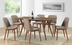 Mid Century Wall Decor Dining Room Modern Mid Century Dining Chairs With White Wall