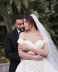 هاجر أحمد في أول تعليق لها بعد حفل زفافها: اكتفيت بـ«زوجي»