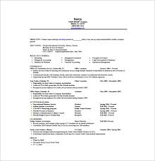Financial Resume Template Mesmerizing 48 Internship Resume Templates DOC Excel PDF PSD Free