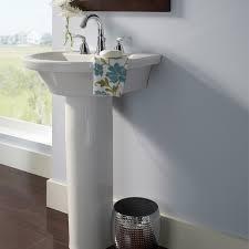 petite pedestal sink. Bathroom Sinks Tropic Petite 21 Inch Pedestal Sink White On