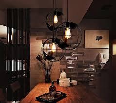 warehouse style lighting. Retro Indoor Lighting Vintage Pendant Lights Globe Iron Cage Lampshade Warehouse Style Light Fixture Scandinavian I