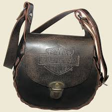 harley davidson cross distressed leather purse