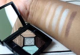 dior 5 colour parisian sky eyeshadow palette swatches