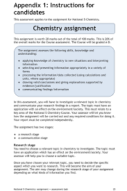 chemistry teaching resources gordon watson kelso high school  sqa assignment guide