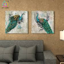 Peacock Living Room Compare Prices On Painting For Living Room Peacock Online
