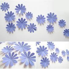 Top Honderd 3d Bloemen Stickers Muurstickers Paars 12 Stuks