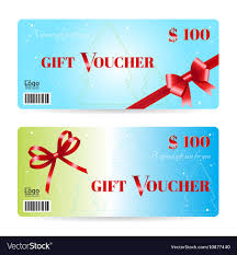 christmas gift card templates christmas gift voucher or gift card template vector image