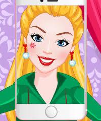 barbie elfie selfie make up game