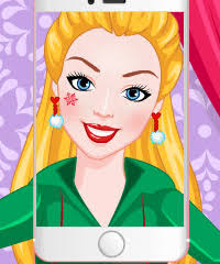 barbie elfie selfie make up game