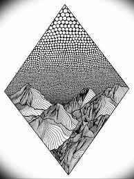 фото эскиз тату горы 23072019 073 Sketch Of A Mountain Tattoo