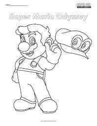 Super Mario Odyssey Nintendo Coloring Super Fun Coloring Pages