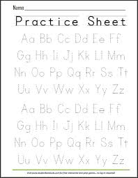 Writing Practice Worksheet Abcs Dashed Letters Alphabet Writing Practice Worksheet