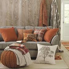 Burnt Orange And Brown Living Room Concept Interesting Design