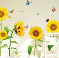 image is loading sunflower diy pvc removable wall art sticker vinyl  on diy sunflower wall art with sunflower diy pvc removable wall art sticker vinyl decals room home